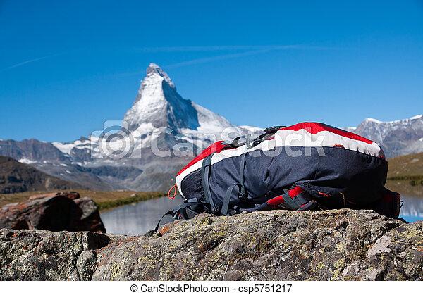 Backback and Matterhorn - csp5751217