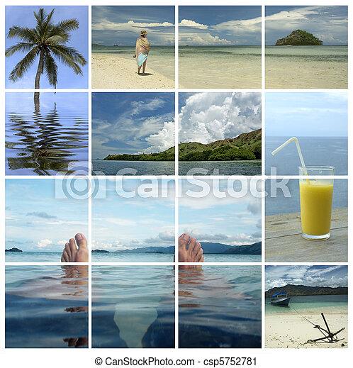 holiday dreams - tropical paradise - csp5752781