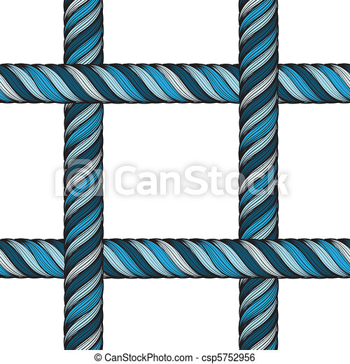 seamless detailed texture of blue threads - csp5752956