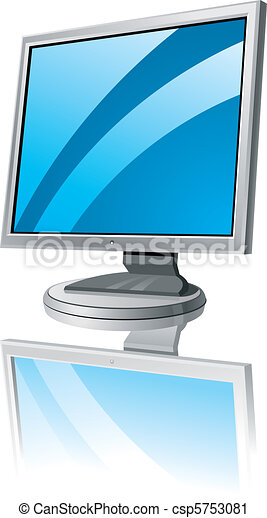 LCD monitor template - csp5753081