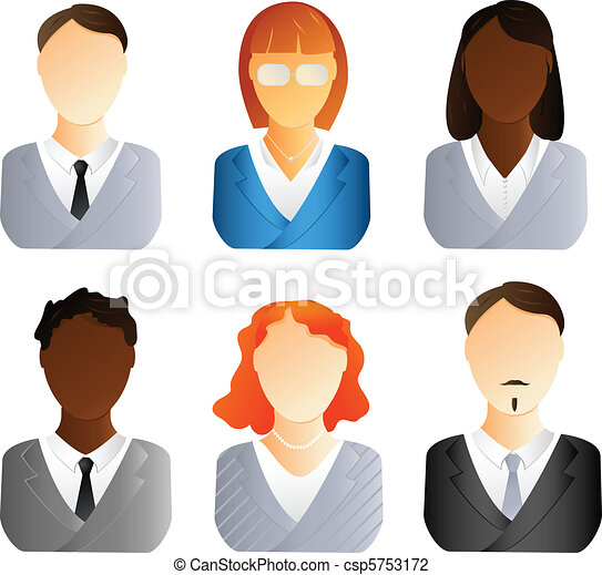 Business people icons - csp5753172
