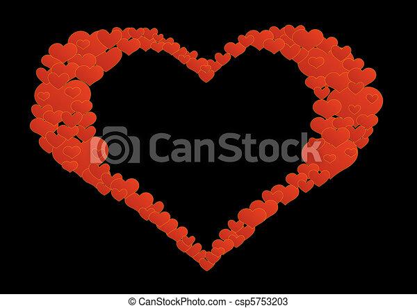 Coração, luto - csp5753203