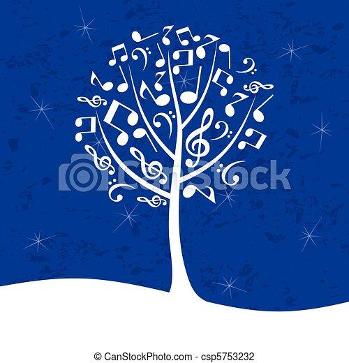 Musical tree - csp5753232