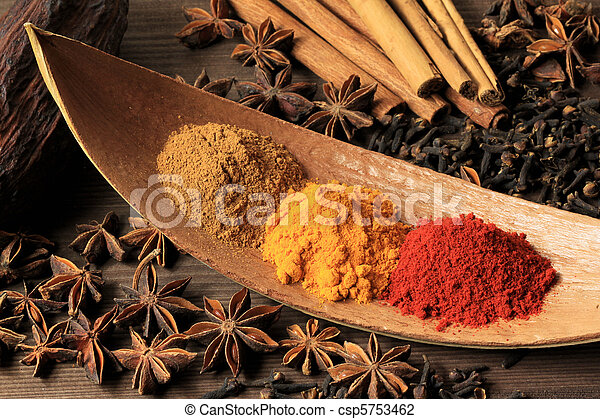 Turmeric and pepper - csp5753462