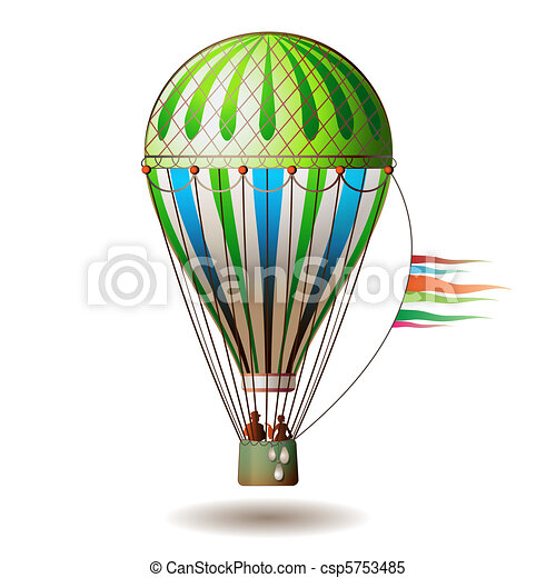 Colorful hot air balloon  - csp5753485