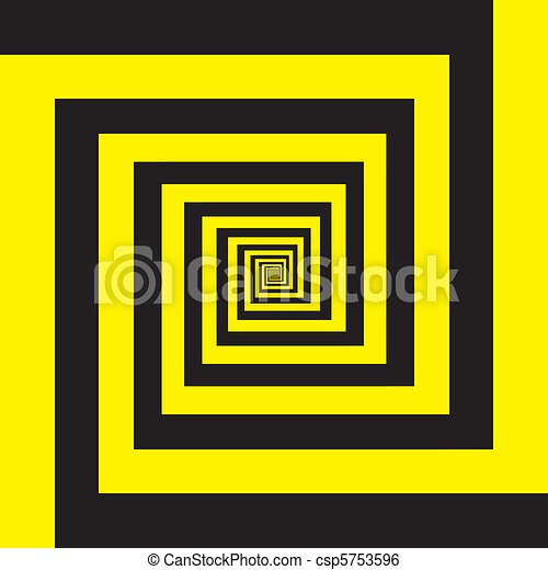 Hypnotic spiral in yellow and black - csp5753596