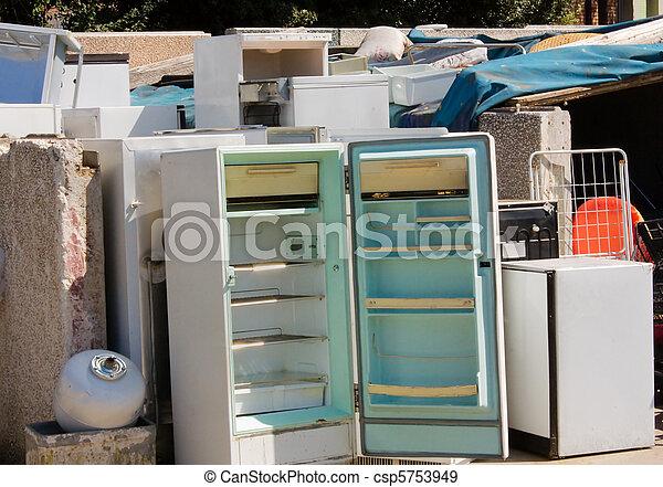 gazardous waste -  broken fridges - csp5753949