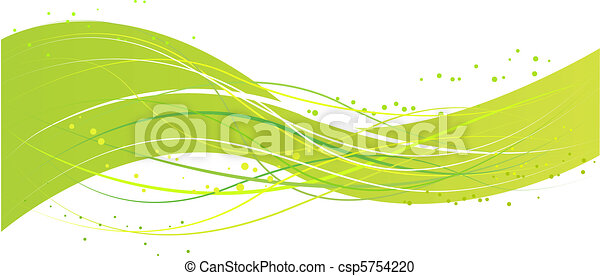 Abstract green wave design - csp5754220