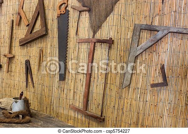 old carpentry - csp5754227