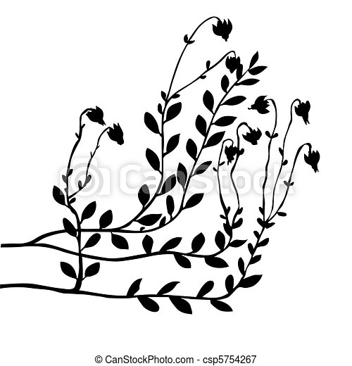 vector cranberry bush on white background - csp5754267