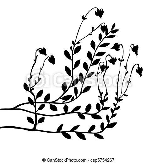 vector cranberry bush on white background - csp5754267