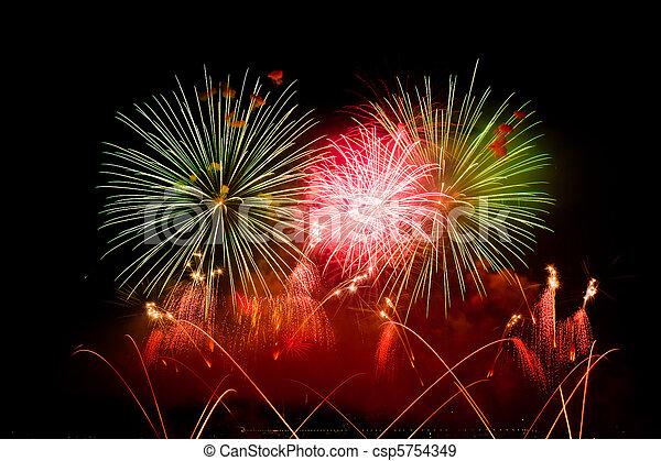 Switzerland - Geneva  fireworks - csp5754349