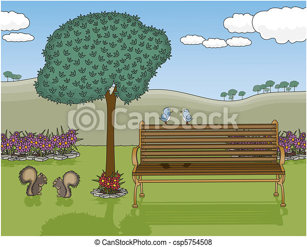 Park Bench Oasis - csp5754508