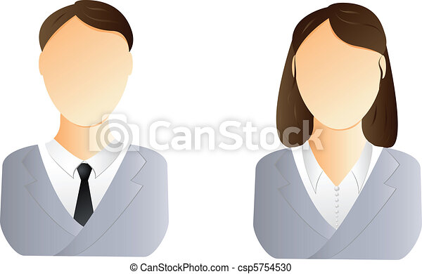 Man and woman user icon - csp5754530