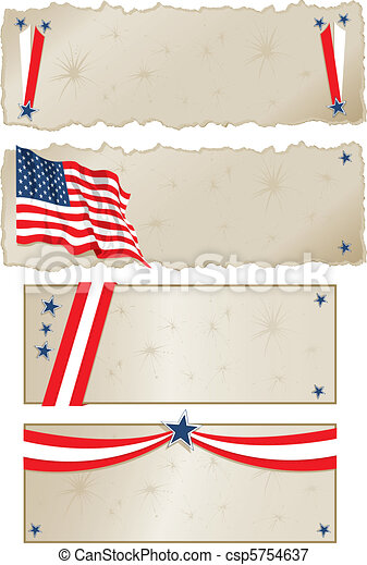 Americana Banners - csp5754637