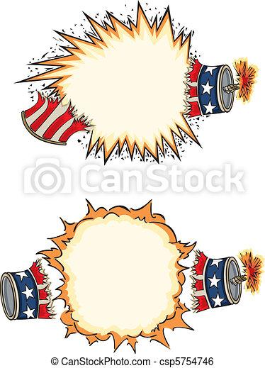 Americana Firecracker Starbursts - csp5754746