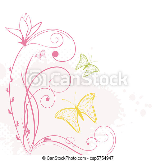 abstract backdrop with butterflies - csp5754947