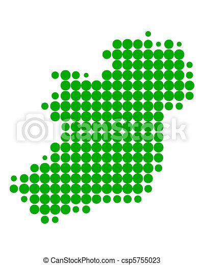 Map of Ireland - csp5755023