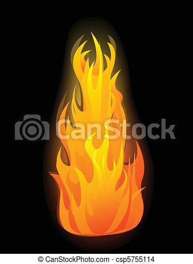 Vector fire flames - csp5755114