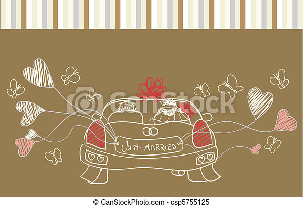 just married auto - csp5755125