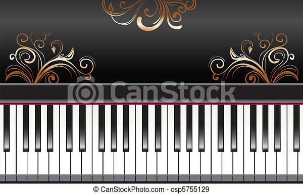 piano with swirls - csp5755129