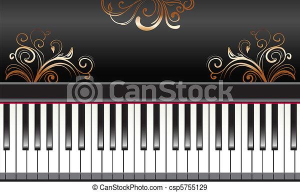 piano with swirls - csp5755129