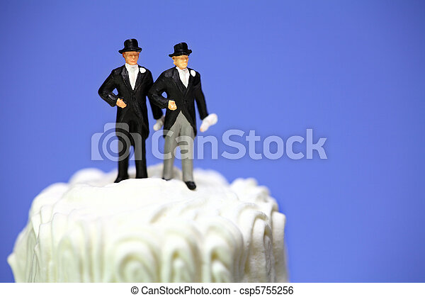 photo gteau miniature couple homosexuel mariage - Figurine Mariage Gay