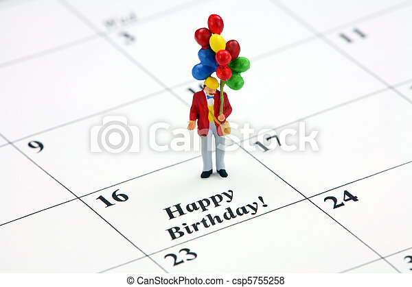 Happy Birthday calendar date - csp5755258