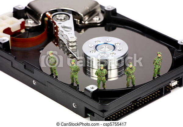 Computer data security concept - csp5755417