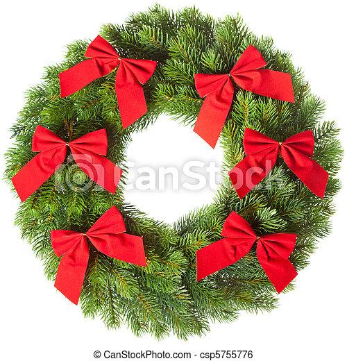 Christmas wreath - csp5755776