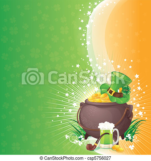 Saint Patrick's Day background - csp5756027