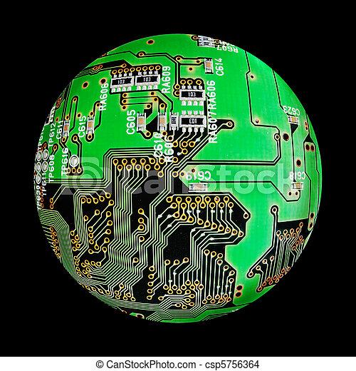 electronic globe - csp5756364