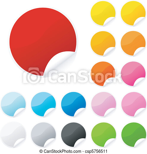 colorful sticker , postit set - csp5756511