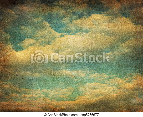 retro image of cloudy sky - csp5756677