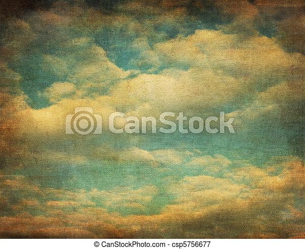 retro image of cloudy sky - csp5756677