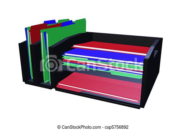 clip art de organisateur fichier bureau bureau fichier dossier csp5756892 recherchez. Black Bedroom Furniture Sets. Home Design Ideas