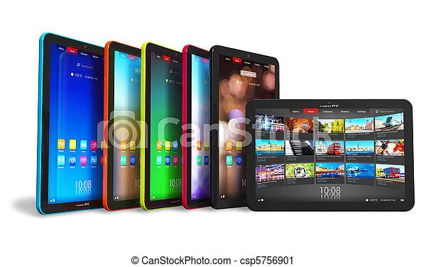 Set of tablet computers - csp5756901