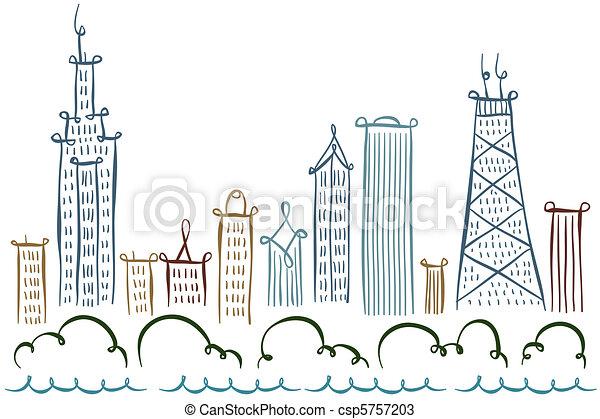 Chicago Skyline - csp5757203