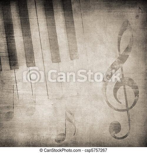 grunge music  - csp5757267