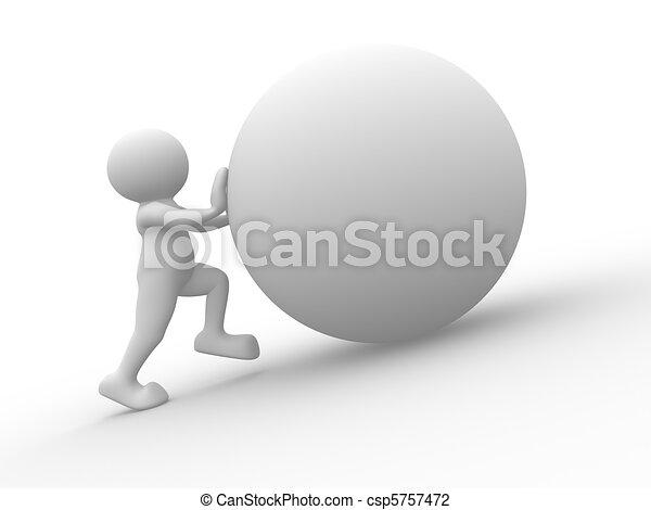 Pushing sphere - csp5757472