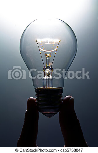 Lit light bulb - csp5758847