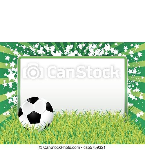 Soccer ball banner - csp5759321