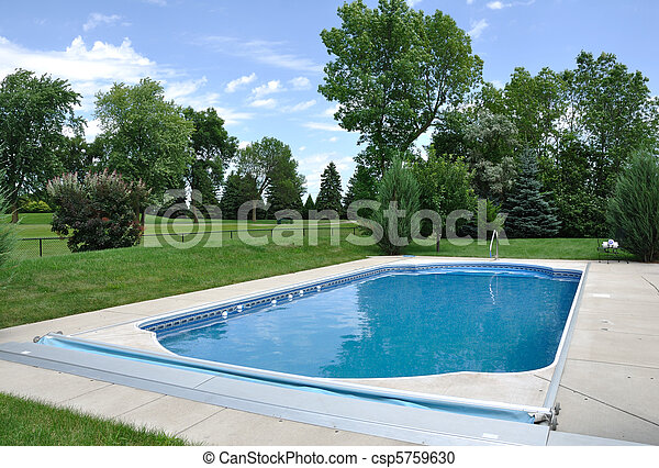 Backyard In-Ground Swimming Pool - csp5759630