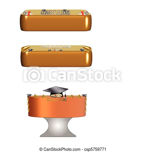 diploma cakes - csp5759771