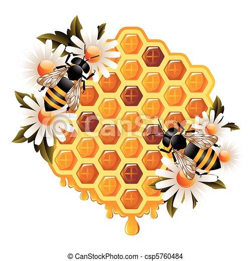 Floral Honey Concept - csp5760484