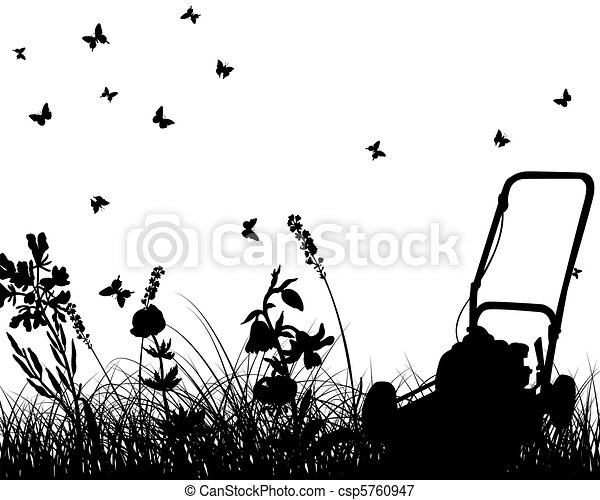 meadow silhouettes - csp5760947