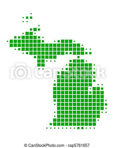 Map of Michigan - csp5761657