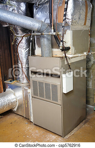 Old and dirty gas furnace - csp5762916