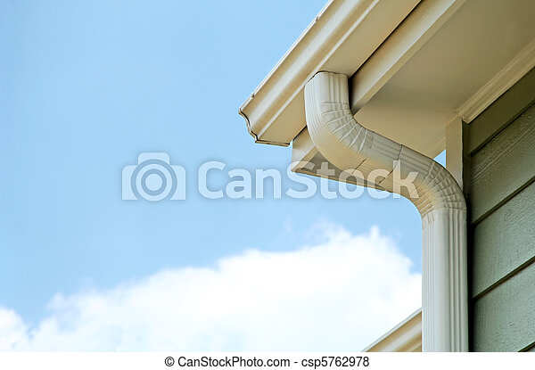 Rain gutters on a home - csp5762978