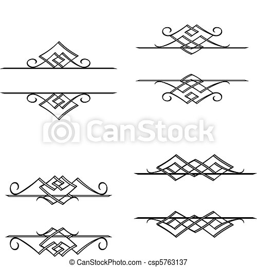 Vintage monograms and motifs - csp5763137